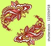 floral background | Shutterstock .eps vector #122056918