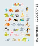 vector ukrainian alphabet with... | Shutterstock .eps vector #1220577418