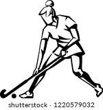 field hockey match | Shutterstock .eps vector #1220579032