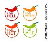 hot red pepper strength scale... | Shutterstock .eps vector #1220581192