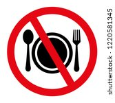 no eating and no drinks are... | Shutterstock .eps vector #1220581345