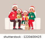 merry christmas and happy new... | Shutterstock .eps vector #1220600425