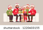 merry christmas and happy new... | Shutterstock .eps vector #1220603155