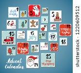 christmas advent calendar. hand ...   Shutterstock . vector #1220609512