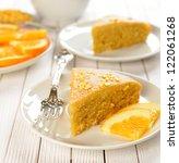 Orange Cake On A White Table