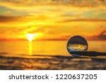 beautiful transparent glass... | Shutterstock . vector #1220637205