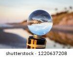 beautiful transparent glass... | Shutterstock . vector #1220637208
