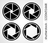 set of aperture icons. vector... | Shutterstock .eps vector #1220651668