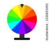 wheel of fortune in flat design....   Shutterstock .eps vector #1220651692
