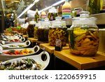 italian antipasti food display | Shutterstock . vector #1220659915