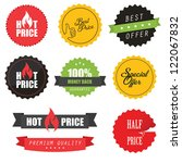 set of commercial sale stickers ... | Shutterstock .eps vector #122067832
