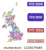 mosaic brick style map of... | Shutterstock .eps vector #1220679685