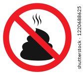 no poop vector sign... | Shutterstock .eps vector #1220688625