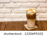 ice caramel macchiato in the... | Shutterstock . vector #1220695102