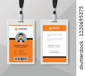 professional orange id card... | Shutterstock .eps vector #1220695375
