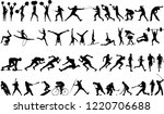 sport collection silhouette | Shutterstock .eps vector #1220706688