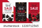 black friday sale banner layout ... | Shutterstock .eps vector #1220712565