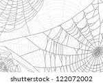 illustration with spider web... | Shutterstock .eps vector #122072002