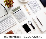 top view of accounting concept... | Shutterstock . vector #1220722642