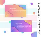 business cards modern with...