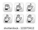 counting hand signs   vector... | Shutterstock .eps vector #122073412