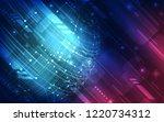 vector digital high speed... | Shutterstock .eps vector #1220734312