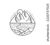 outdoor line art mountain... | Shutterstock .eps vector #1220737525