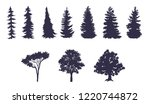 vector set of trees of... | Shutterstock .eps vector #1220744872
