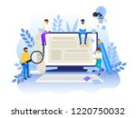 blogging and creative writing... | Shutterstock .eps vector #1220750032