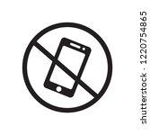 no phone icon. trendy no phone... | Shutterstock .eps vector #1220754865