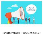 refer a friend word concept.... | Shutterstock .eps vector #1220755312