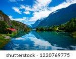 beautiful nature norway natural ... | Shutterstock . vector #1220769775