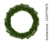 green christmas wreath vector... | Shutterstock .eps vector #1220779675