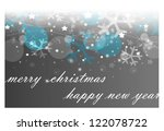 happy new year card | Shutterstock . vector #122078722
