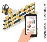 smart warehouse management...   Shutterstock .eps vector #1220788075