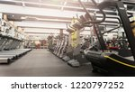fitness gym club with row of... | Shutterstock . vector #1220797252