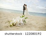 a couple wedding on the beach | Shutterstock . vector #122080192
