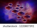 blockchain network background...   Shutterstock . vector #1220807392