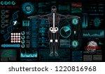 human anatomy hud. innovations... | Shutterstock .eps vector #1220816968