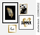 a set of four framed art prints ...   Shutterstock .eps vector #1220821012