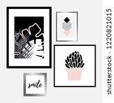 a set of four framed art prints ... | Shutterstock .eps vector #1220821015