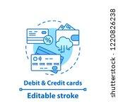 debit and credit cards concept...   Shutterstock .eps vector #1220826238