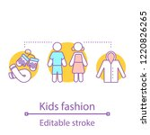 kids fashion concept icon.... | Shutterstock .eps vector #1220826265