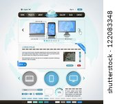 website design template   Shutterstock .eps vector #122083348