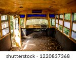 Old School Bus And Rust