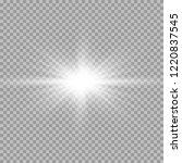 white beautiful light explodes... | Shutterstock .eps vector #1220837545
