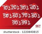 christmas discount sale set 10... | Shutterstock .eps vector #1220840815