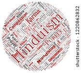 vector conceptual hinduism ... | Shutterstock .eps vector #1220862832
