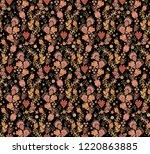 turquoise   golden seamless... | Shutterstock .eps vector #1220863885