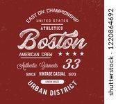 boston typography. vector... | Shutterstock .eps vector #1220864692